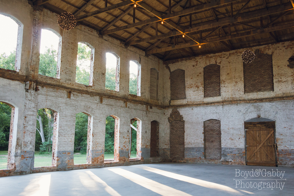 The Providence Cotton Mill offers a unique blend of indoor and outdoor with a whole lot of character!