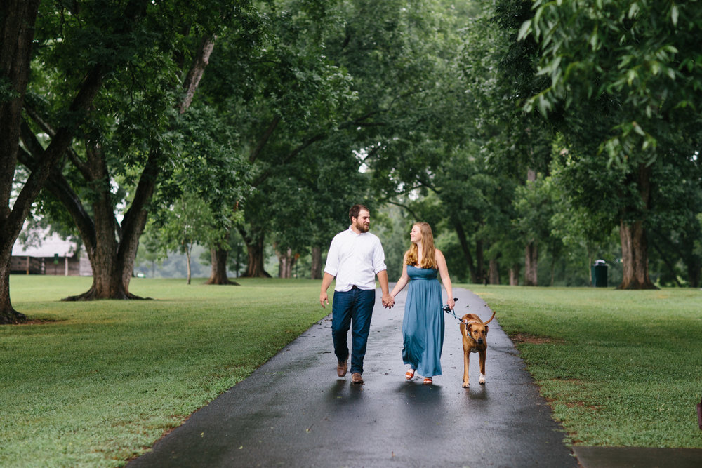 raleigh photographer.engagement photos with a dog.JPG