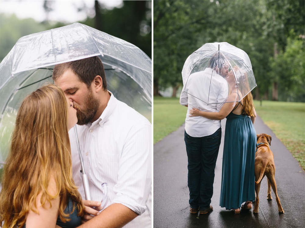 kissing in the rain.rainy engagement photo inspiration.engagement photos in the rain.jpg