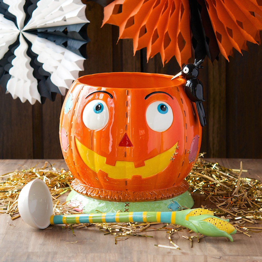 Patches the Pumpkin Punch Bowl Set