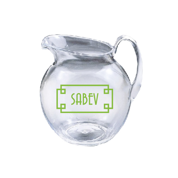 Personalized 3 Quart Acrylic Round Pitcher