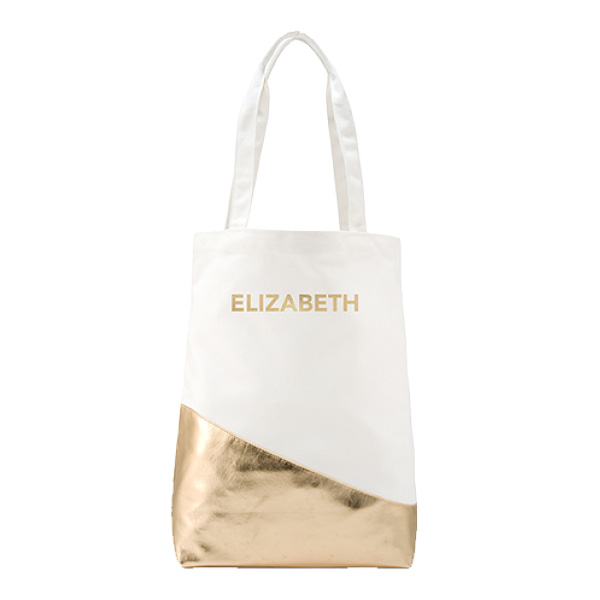 Gold Canvas Tote