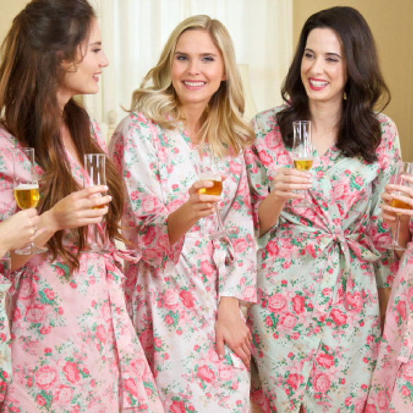 Personalized Cotton Floral Robe