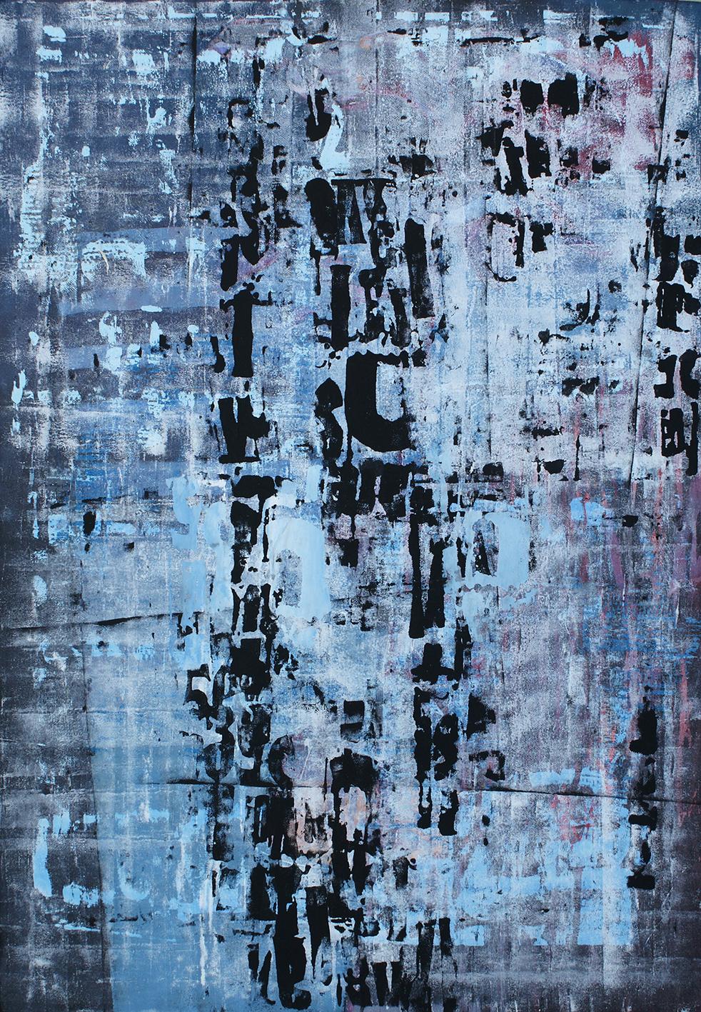 Tempo Variabile Acrylic on canvas 130 x 90 cm 2012