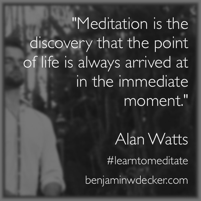 Alan Watts Meditation Quote