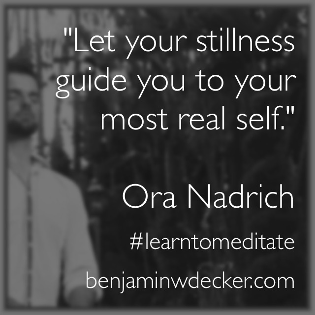 Ora Nadrich Meditation Quote