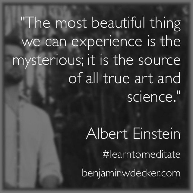 Albert Einstein Meditation Quote