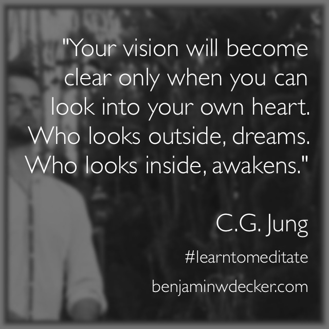 Carl Jung Meditation Quote C.G. Jung
