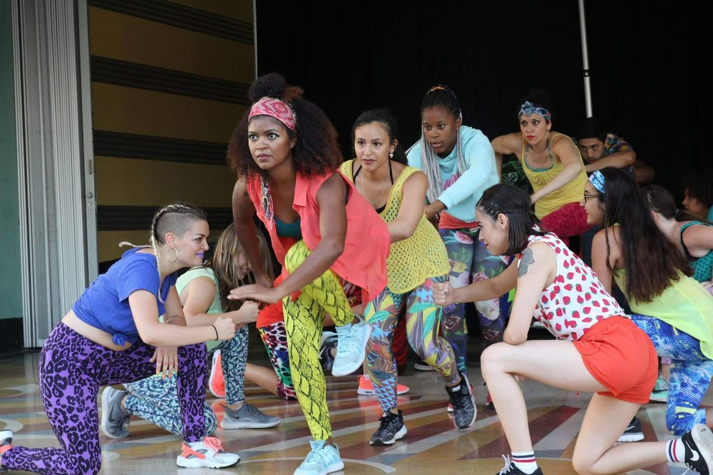 Aminah leads the line of guerreras in the Futuro Summer Dance Intensive showcase