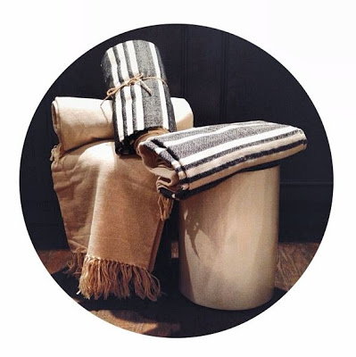 A selection of throws in the ALT for Living showroom.