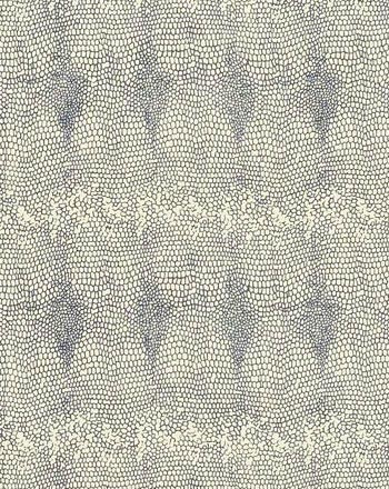 BILLIE I COLOR #34 A depiction of a marine blue snakeskin.          Printed on100% silk, Matka Natural.