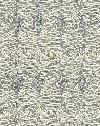 BILLIE I COLOR #34  A depiction of a marine blue snakeskin. Printed on100% silk, Matka Natural.