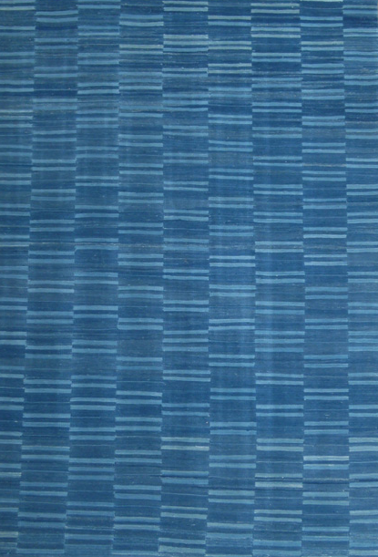 RECYCLED WOOL KILIM I BROKEN STRIPE Hand-Woven I Recycled Wool