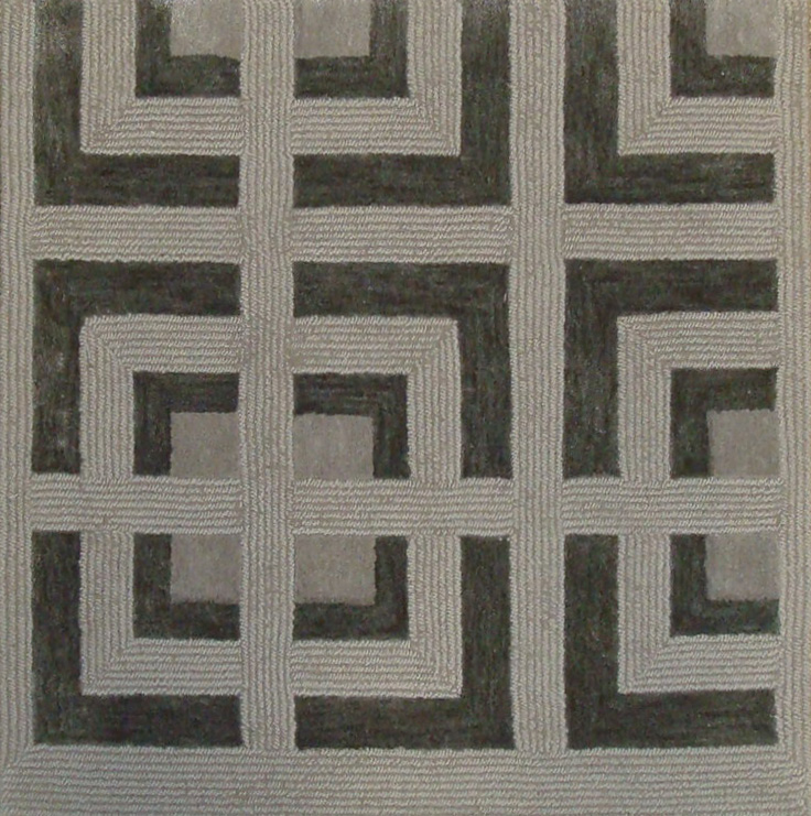 97. METROPOLITIAN I GRAY Wool & Bamboo Silk