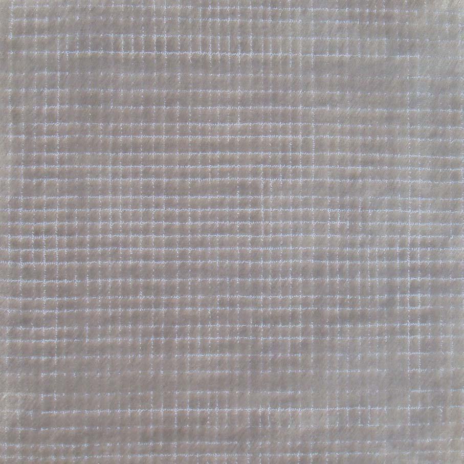 101. ORGANIC GRID I SILVER Bamboo Silk & Nylon