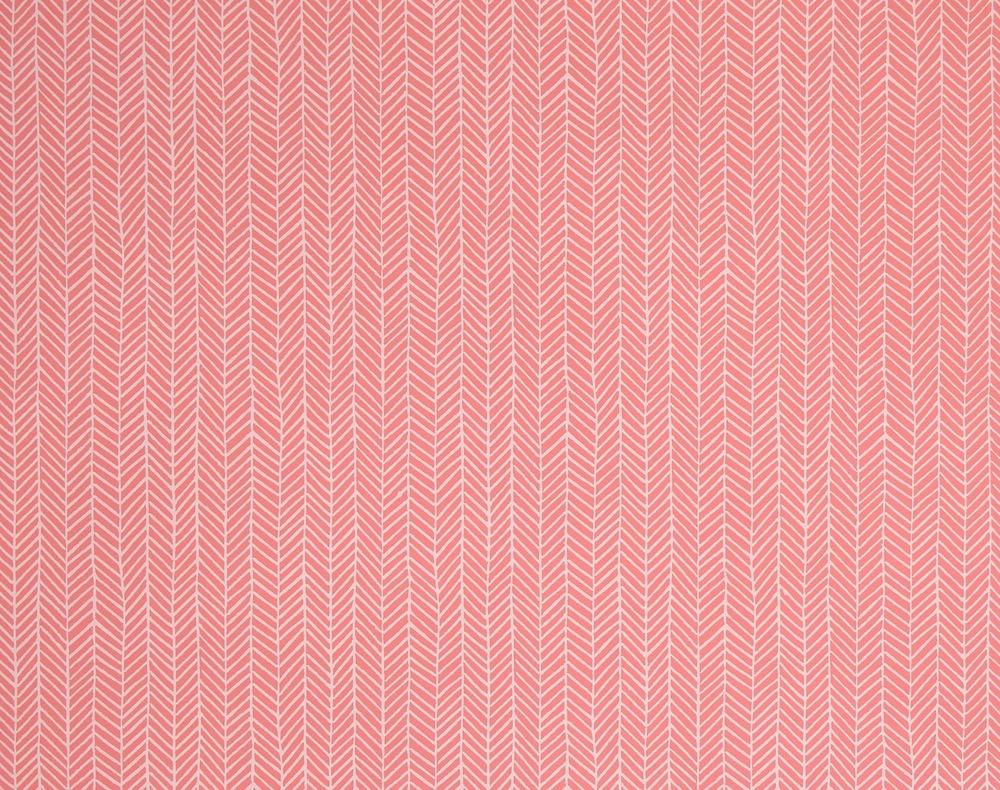KRANE HOME                        Herringbone I Coral Pink
