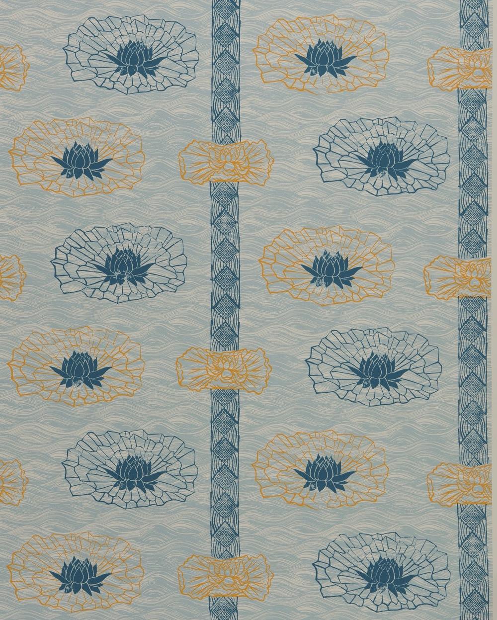 KRANE HOME                           Lotus Stripe I Celadon