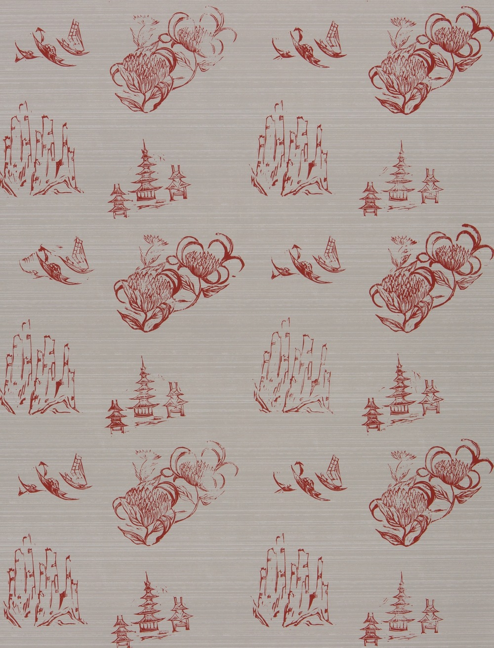 KRANE                                                              Toile Antique I Red
