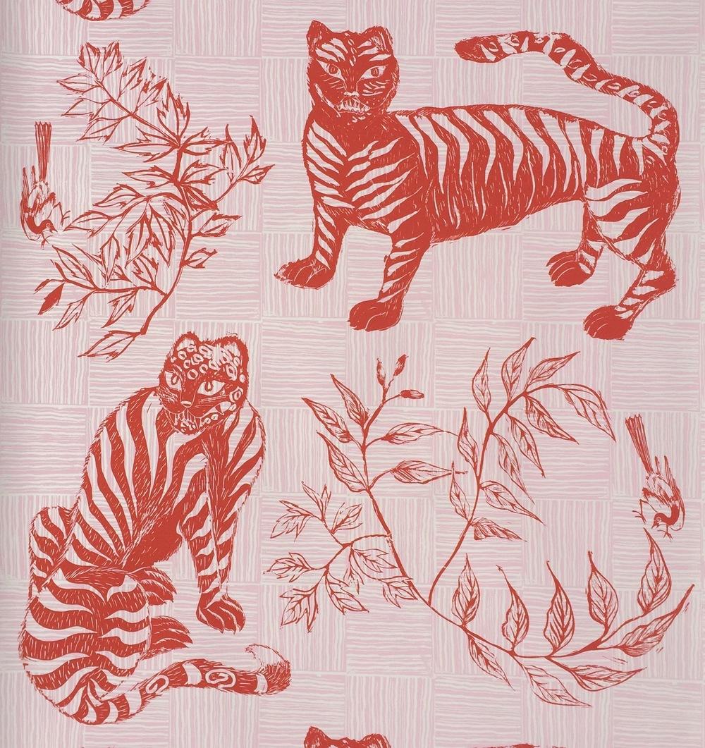 KRANE HOME  Tiger & Magpie I Carmine