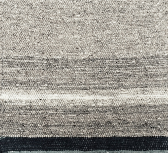 NATURAL STRIPE I MEDIUM GREY & INDIGO