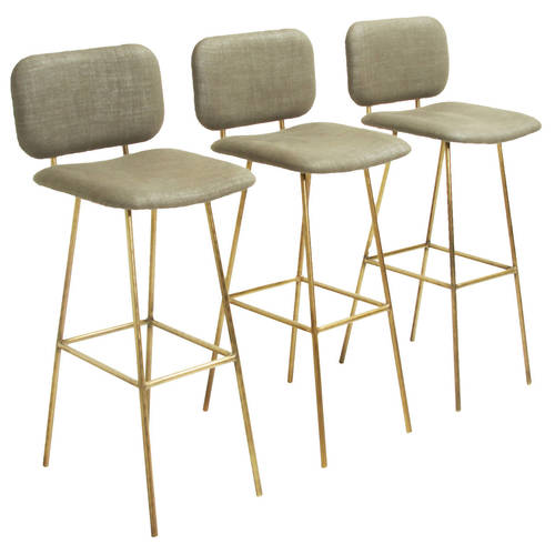 THE BRASS PETRA STOOL BY THOMAS HAYES