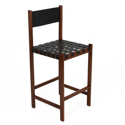 THE LEATHER STRAP BAR STOOL BY THOMAS HAYES