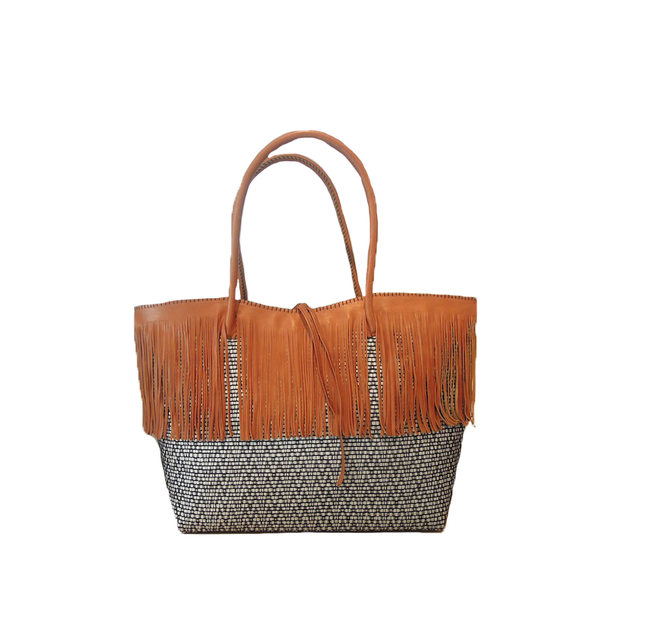 ZWIN BASKET WITH FRINGES