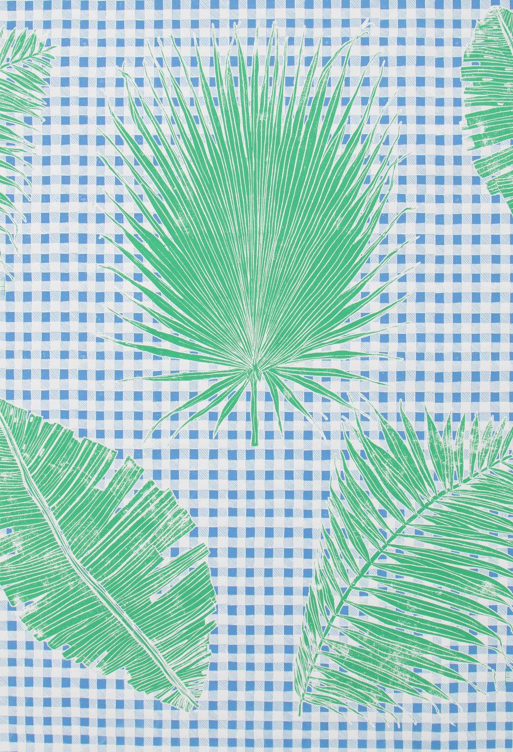 KRANE HOME  Gingham Jungle I Blue Chip Day