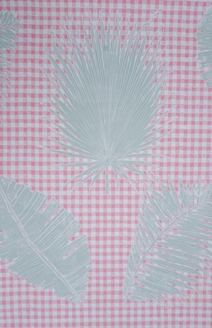 KRANE HOME Gingham Jungle I Pink Sage