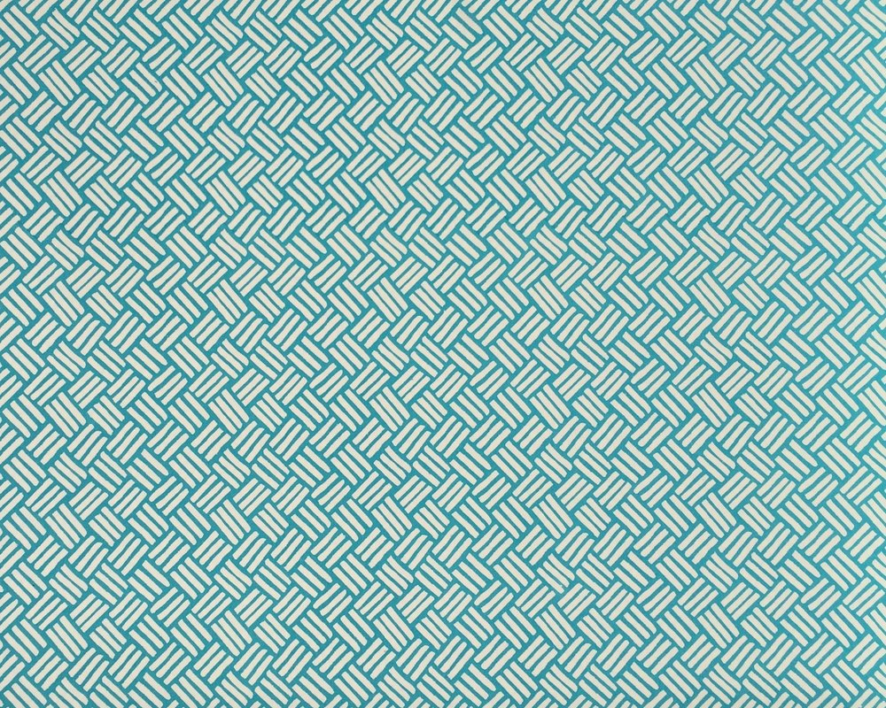 BASKETWEAVE I TEAL