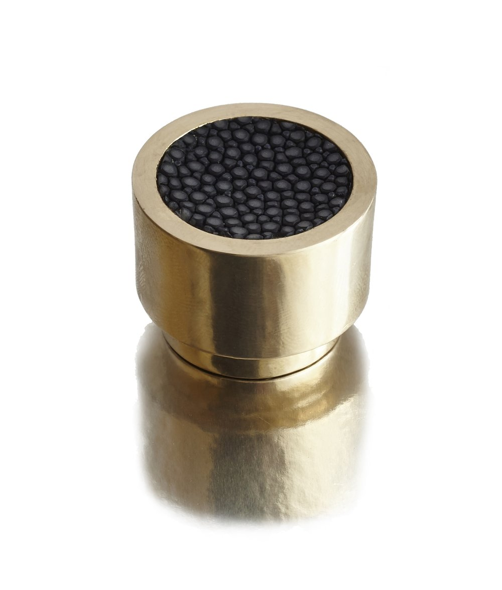 CAVIAR DIAL I ONYX SHAGREEN I CAVIAR Solid Polished Brass & Shagreen (onyx)