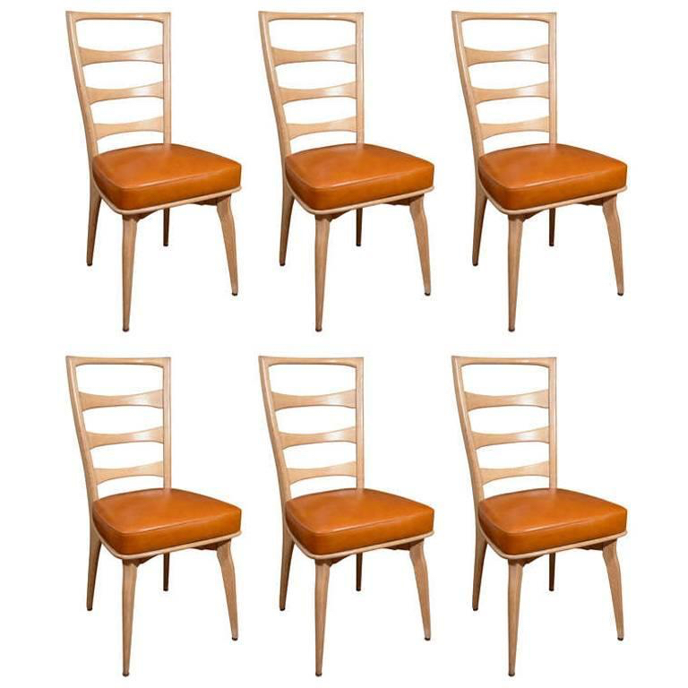 "PASCAL BOYER I MAURICE PRE DINING CHAIRS I 20TH CENTURY FRANCE I 38"" H X 20"" W X 18"" D I $14,500"