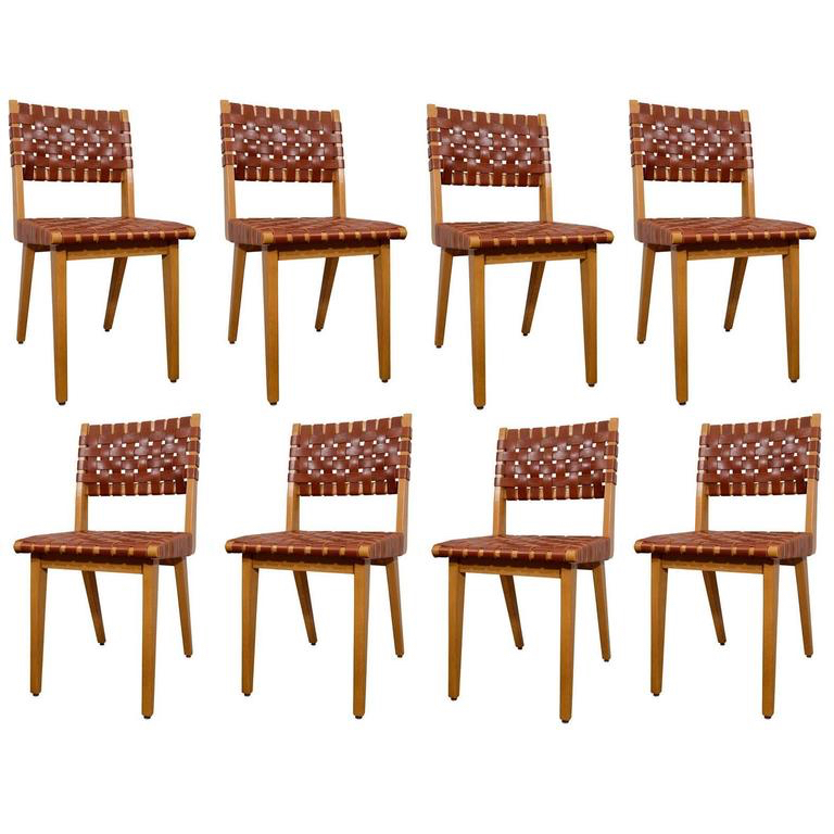 "PASCAL BOYER I JENS RISOM CHAIRS I 20TH CENTURY DENMARK I 32"" H x 19"" W x 16.5"" D I $3,575 FOR ONE"