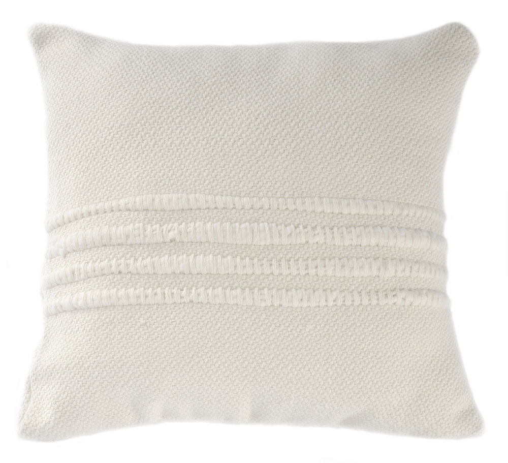 NATURAL IVORY STRIPE PILLOW