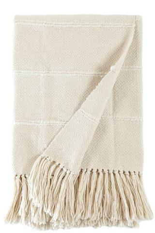 NATURAL STRIPE THROW
