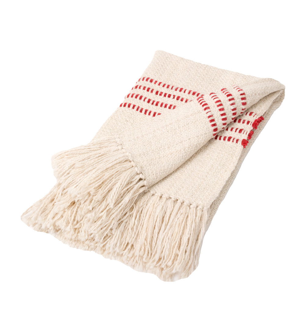 RED STRIPE THROW