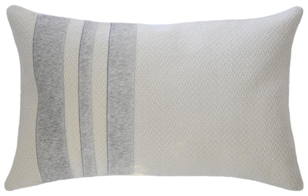 GREY STRIPES HIDE PILLOW