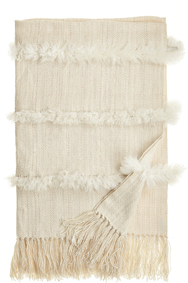 SHEEPSKIN STRIPES THROW