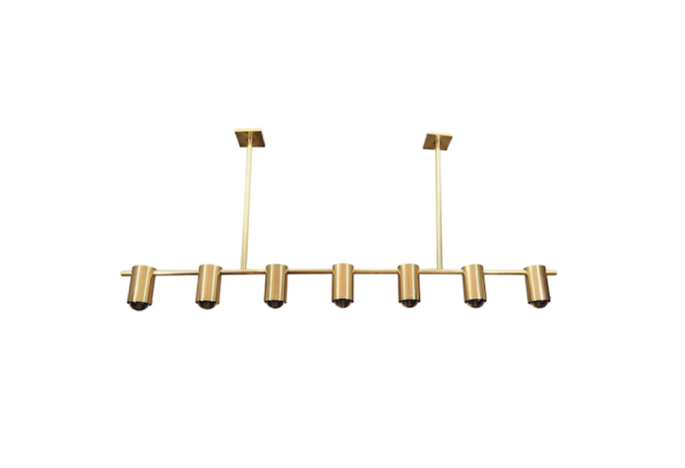 JACQUES QUINET INSPIRED LIGHT FIXTURE I BRASS