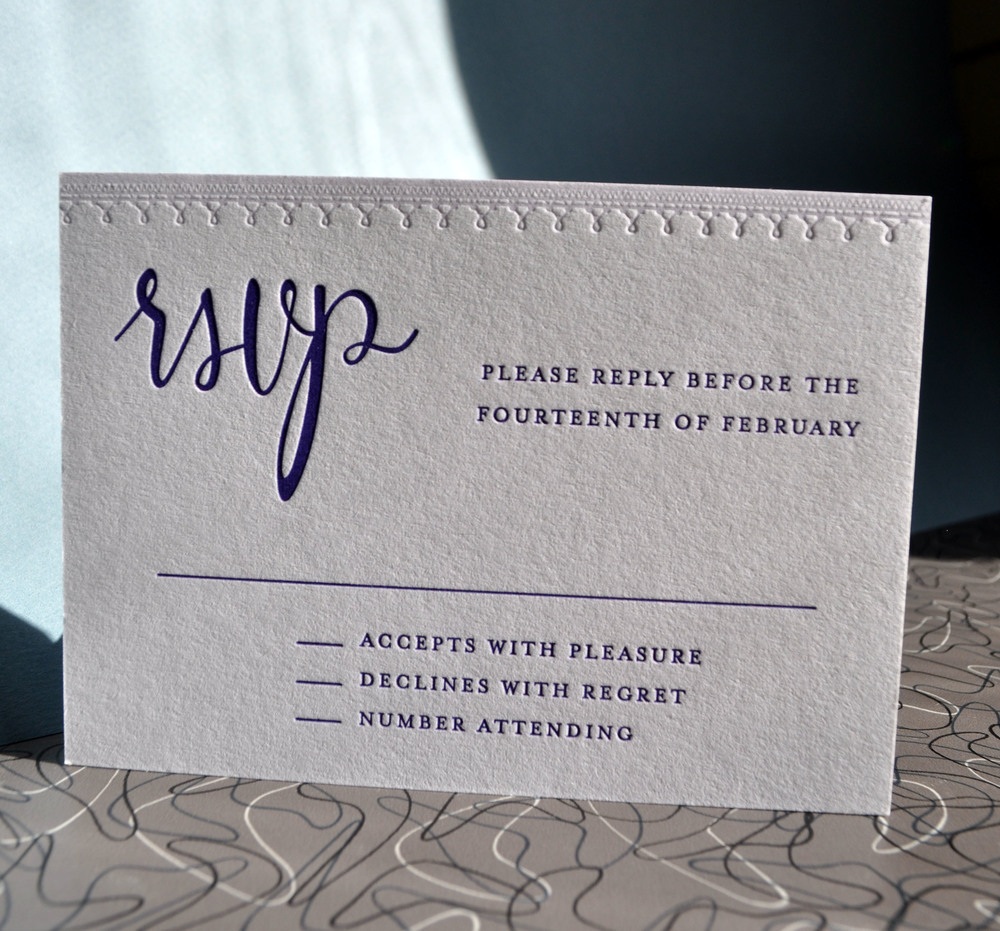Modern calligraphy suite in lavender and lace