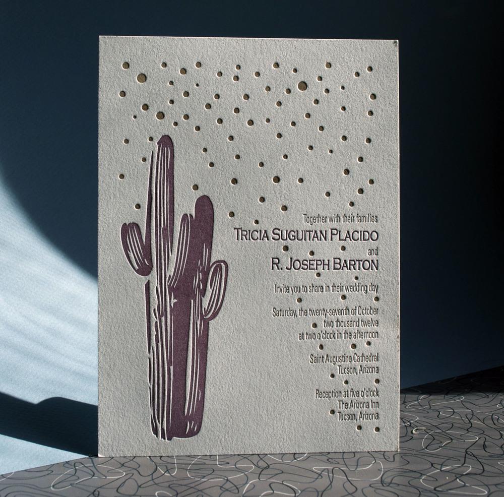 Letterpress Arizona wedding