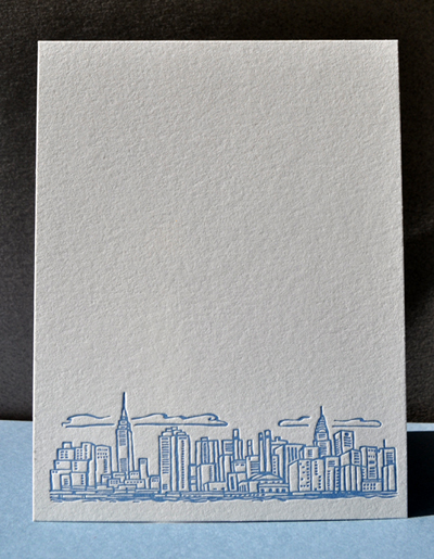 New York City skyline notecards