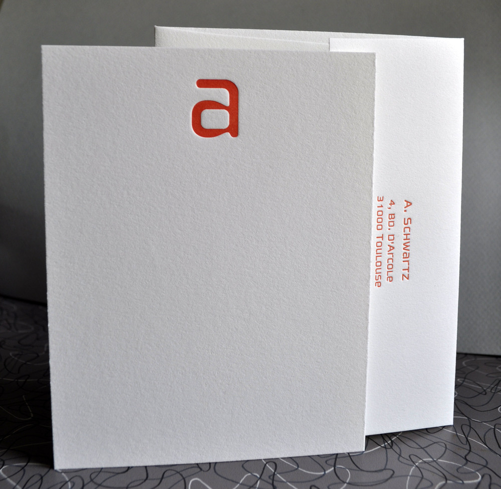 custom letterpress stationery
