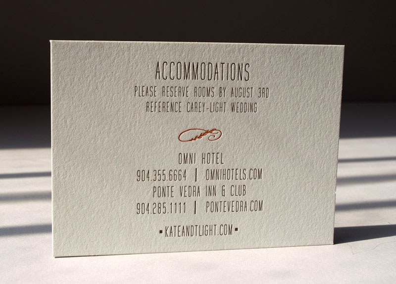 Elegant letterpress calligraphy rsvp. 4-bar card printed 2 sides on luxe double Lettra Pearl