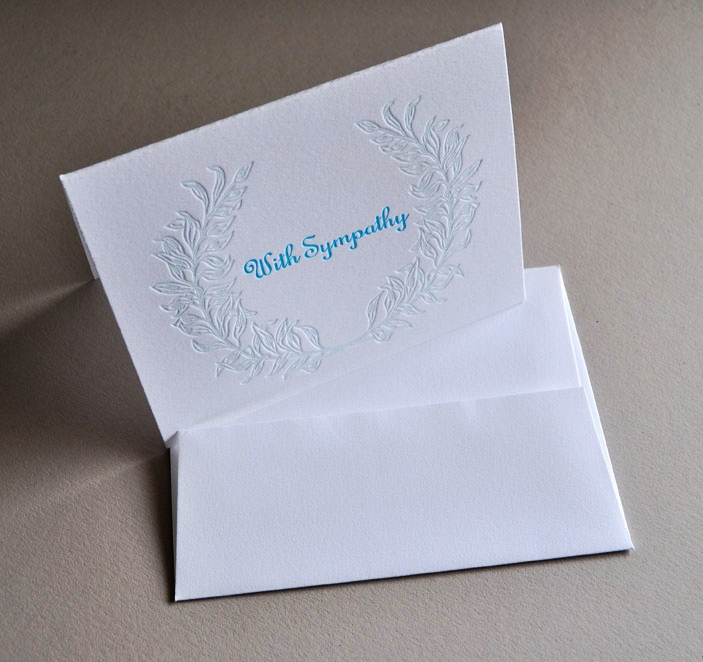 Laurel garland sympathy cards