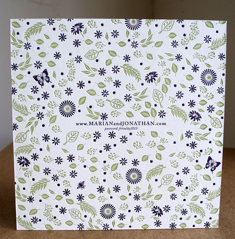 De-Luxe square letterpress invitations