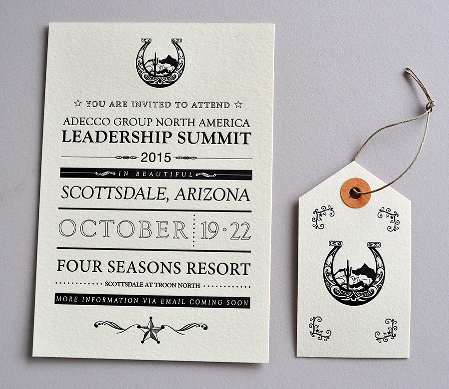 letterpress leadership invitation