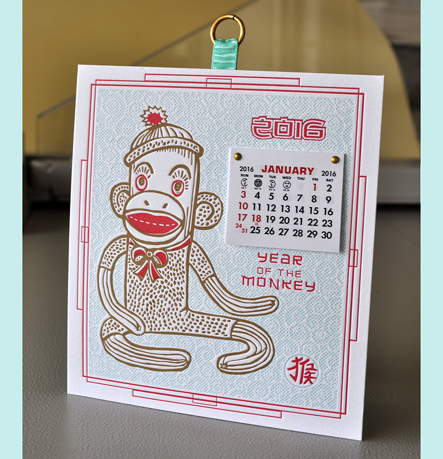Year of the monkey calendar