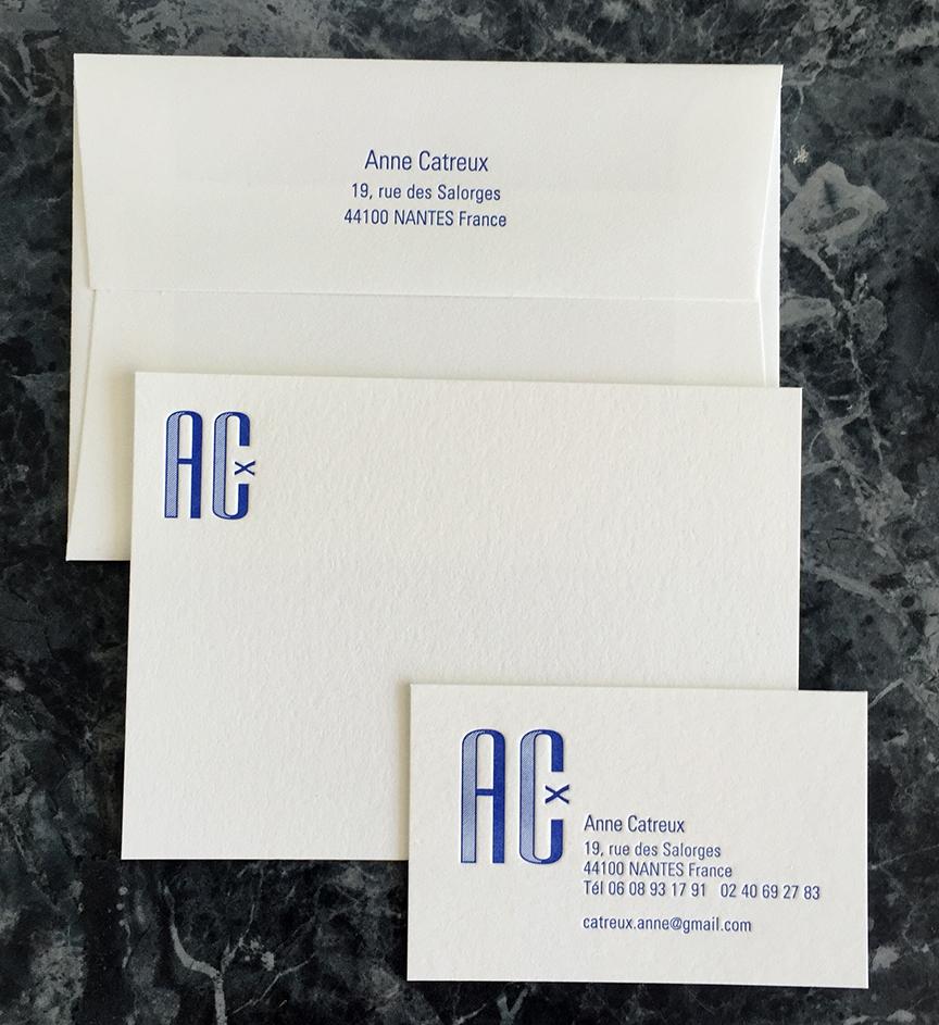 Distinguished marine blue business cards