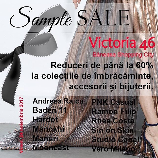 Drop by tommorow at @victoria46.store from Baneasa Shopping City and check their sample sale. #MooncastJewelry included ☺️ 💃🏼